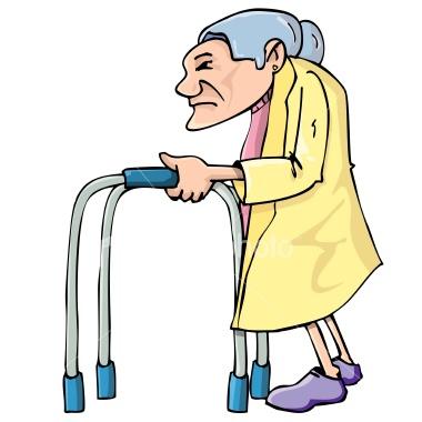 Showing post & media for Cartoon image funny old people walker.