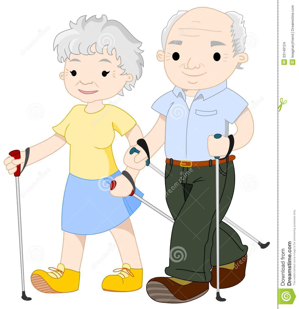 Old People With Walker Clipart.