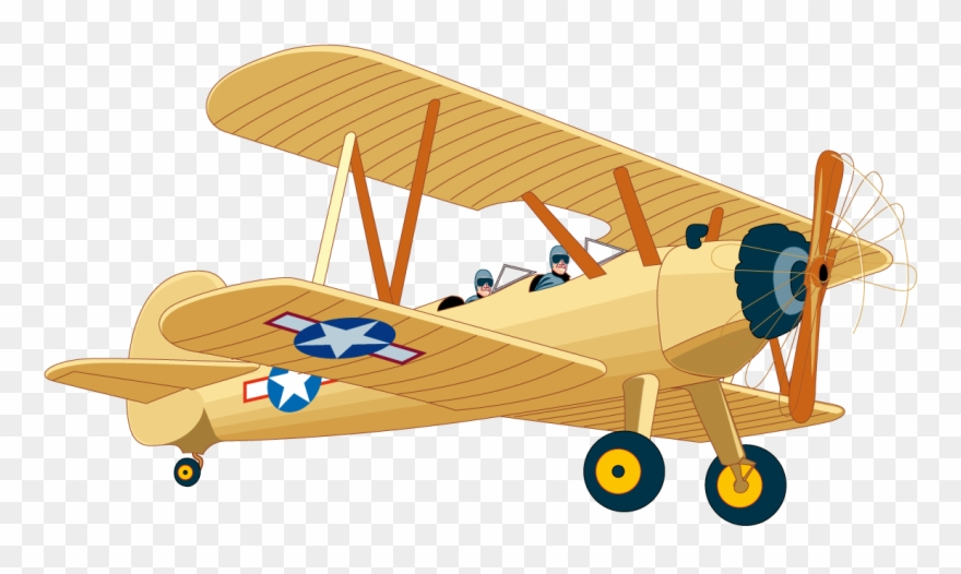 Clipart Small Airplane Vintage.