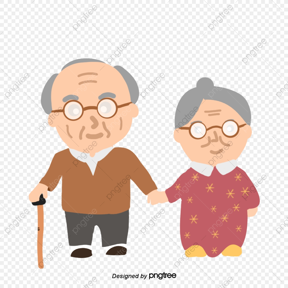 Old Couple, Couple Vector, Go Out, Grandpa PNG and Vector.