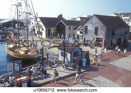 Stock Photo of Newport, Rhode Island, Old Port Marina at Newport.