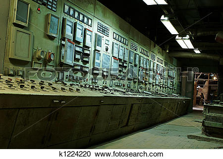 Stock Photography of operator room at old power plant k1224220.