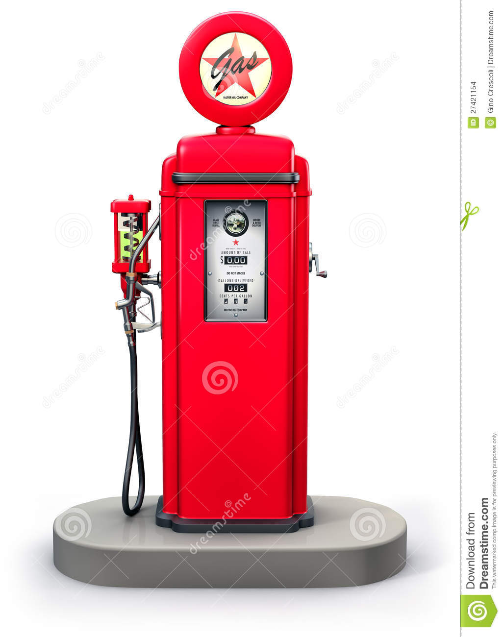 Old gas pump clipart.