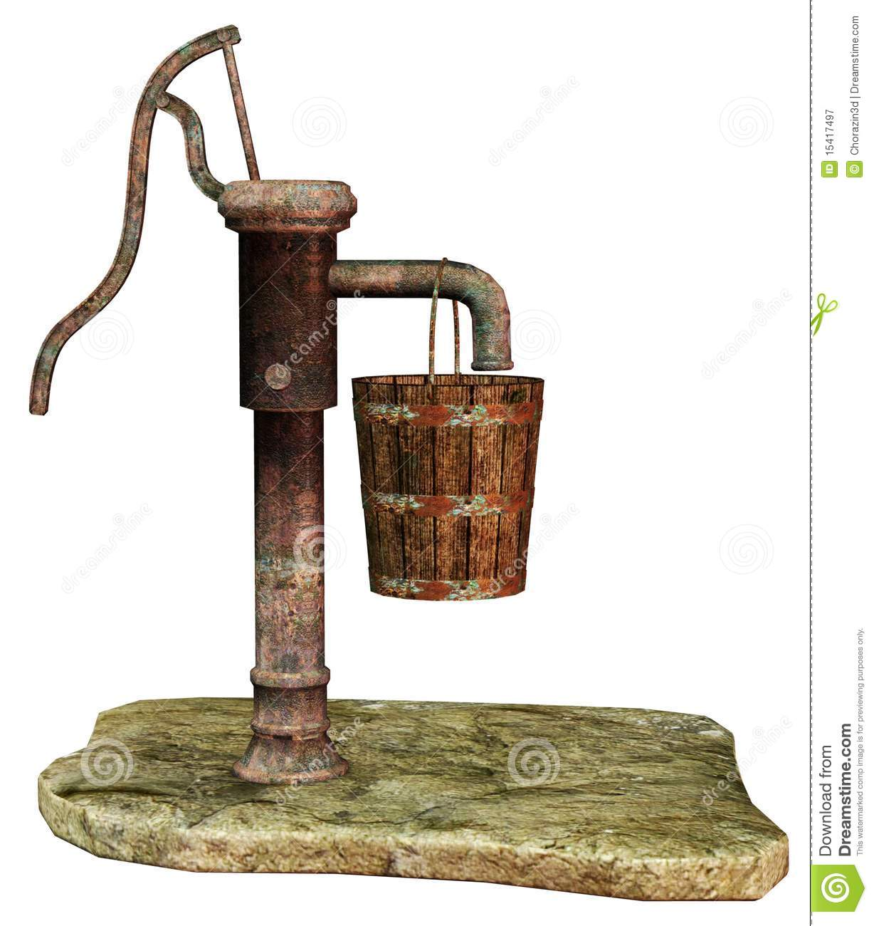 Vintage Water Pump Royalty Free Stock Photography.