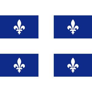 flag of Quebec Canada clipart, cliparts of flag of Quebec Canada.