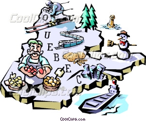 Quebec map Vector Clip art.