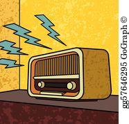 Vintage Radio Clip Art.
