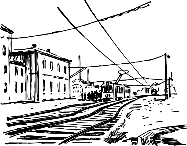 Electric Train Scene Clip Art at Clker.com.