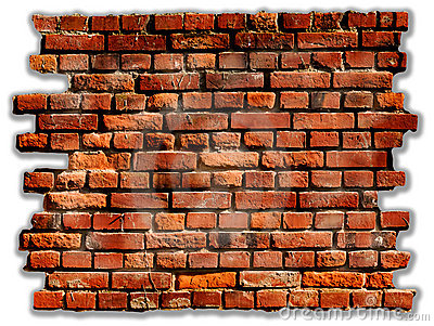 Red Brick Wall Clipart Old Rustic Red Brick Wall #6FNjs4.