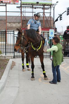 Sarge and Chris Marinelli, Halifax Regional Police Mounted Unit.