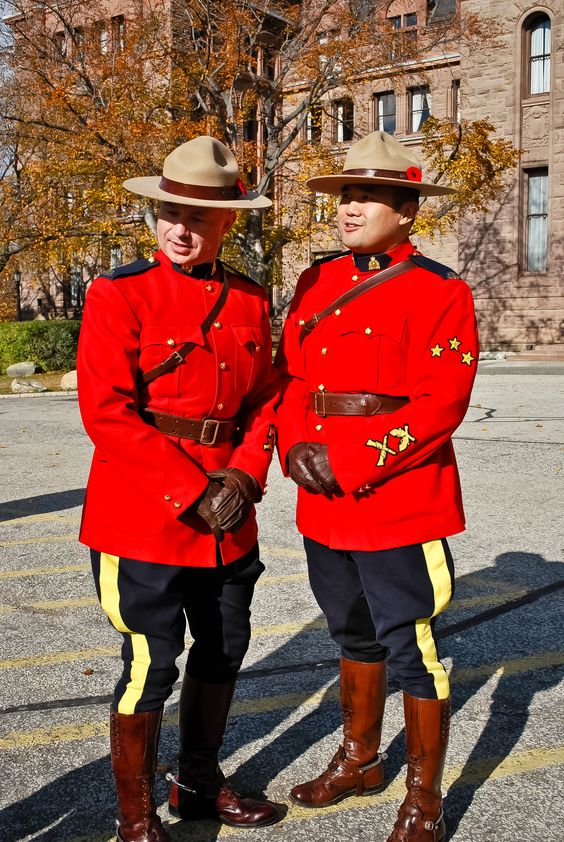RCMP, Royal Canadian Mounted Police, aka Mounties.