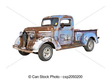 Rusty Work Truck Clipart.