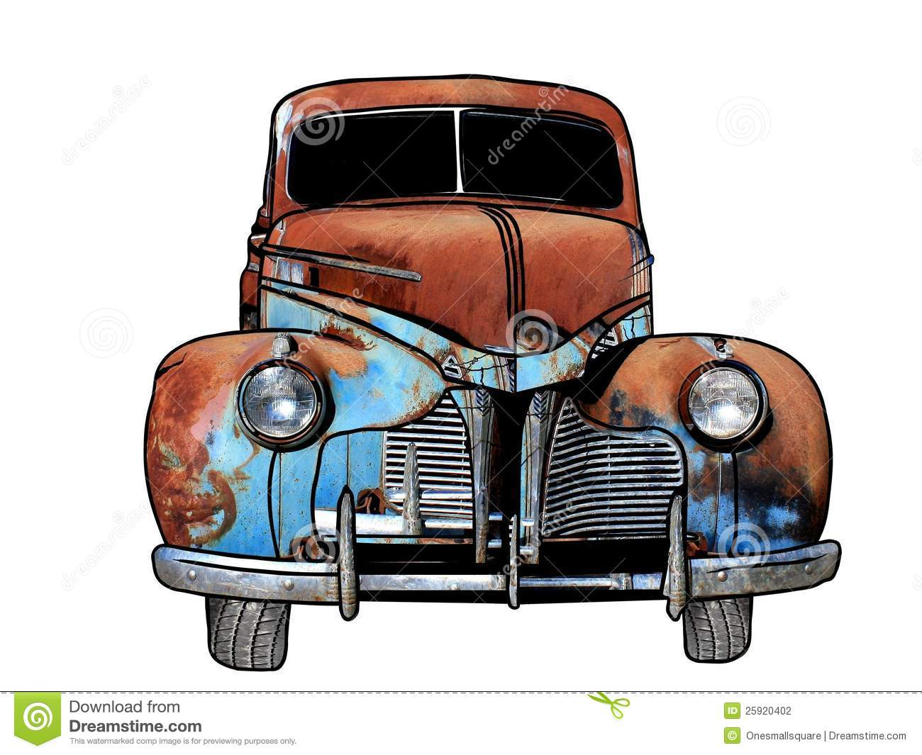 Rusty cars clipart - Clipground