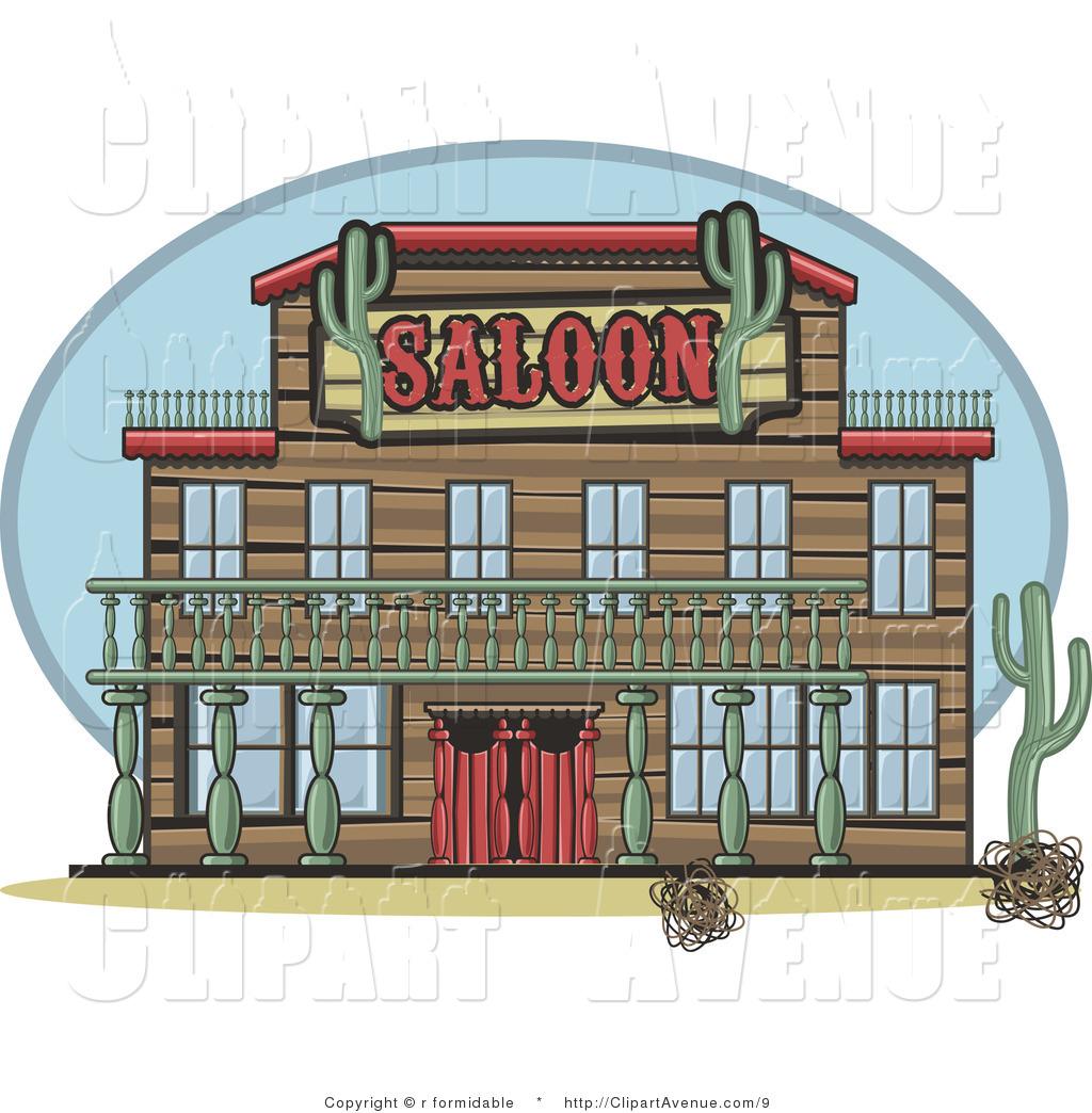 Western saloon clip art.
