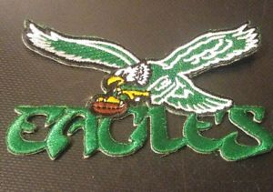 Details about Philadelphia Eagles Old School Football 1987 embroidery  iron,sew,patch Go Birds!.