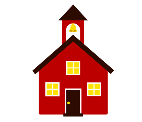 Old school house clipart #2
