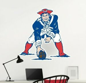 Details about New England Patriots Logo Wall Decal Old School NFL Sticker  Decor Vinyl CG805.