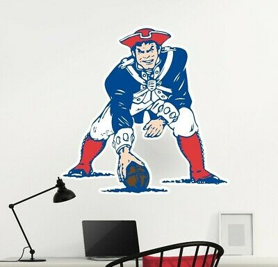 NEW ENGLAND PATRIOTS Logo Wall Decal Old School NFL Sticker.