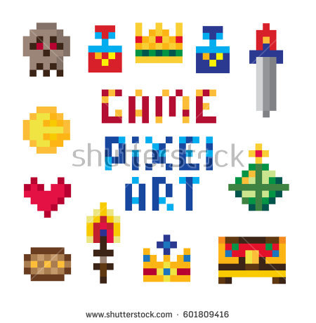 Old School Video Game Stock Images, Royalty.