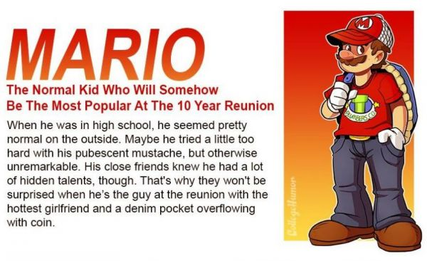 If Video Game Characters Went To Your High School.