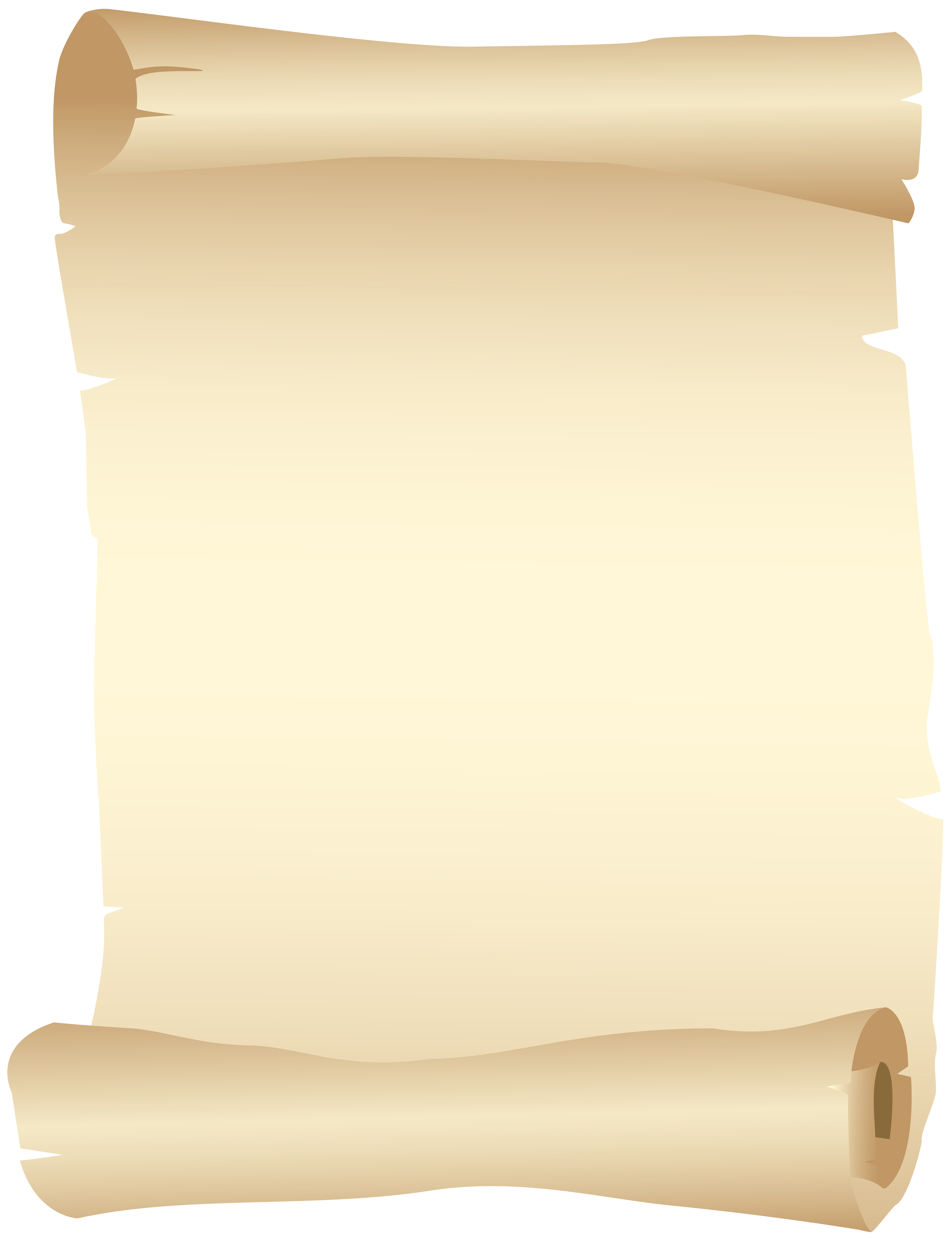 Old Scroll PNG Clip Art Image.