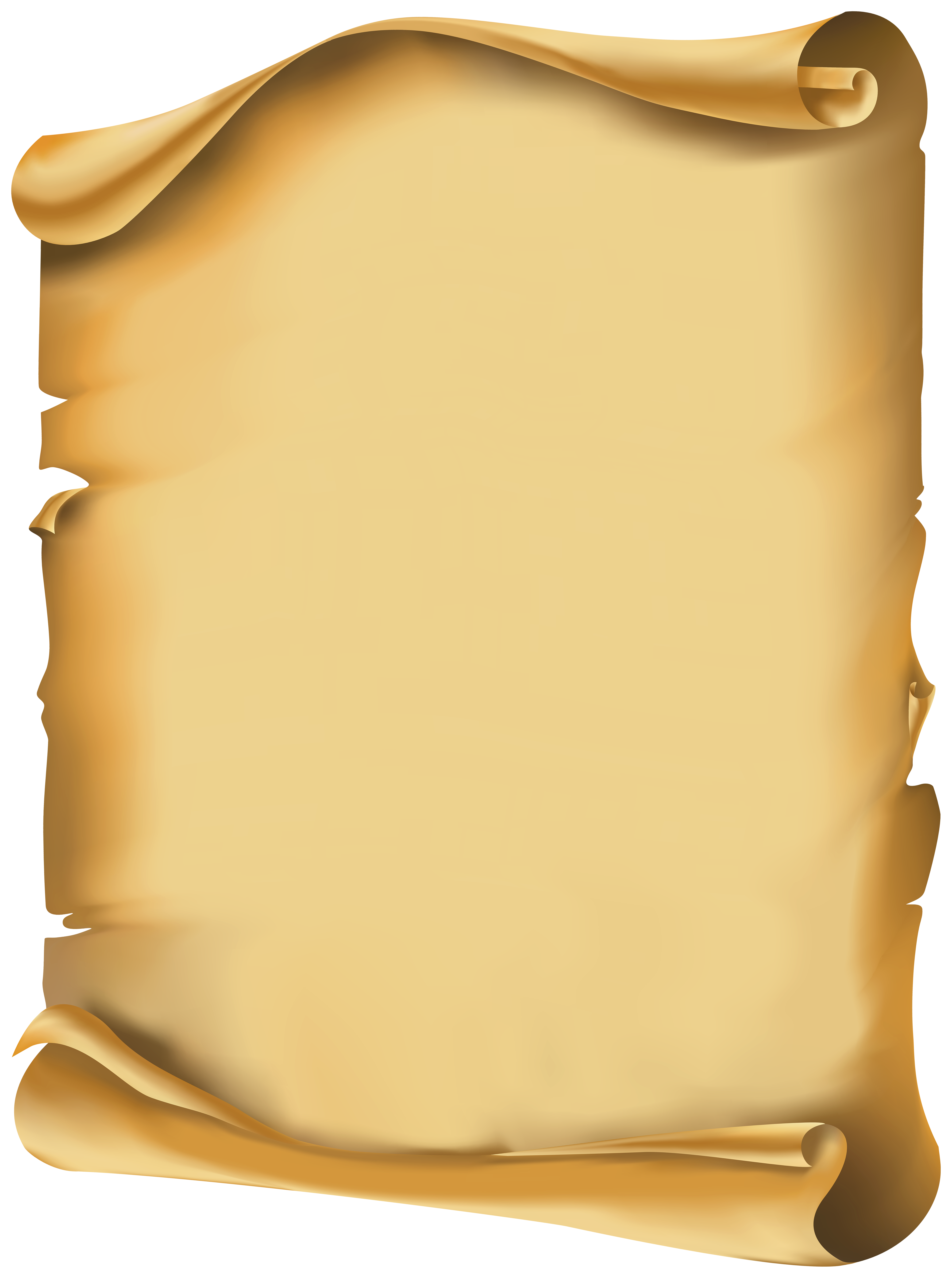 Old Scroll PNG Clipart.