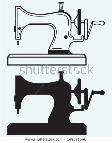 Old Sewing Machine Stock Images, Royalty.