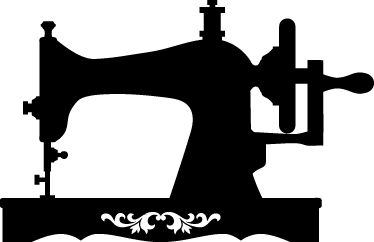Vintage Sewing Machine Clip Art.