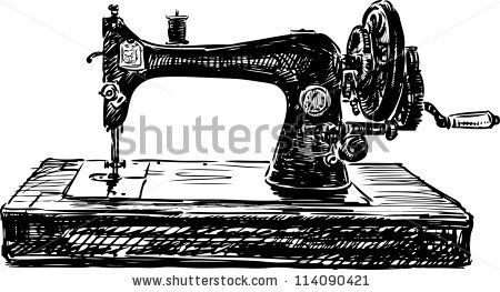 Vintage Sewing Machine Stock Photos, Royalty.