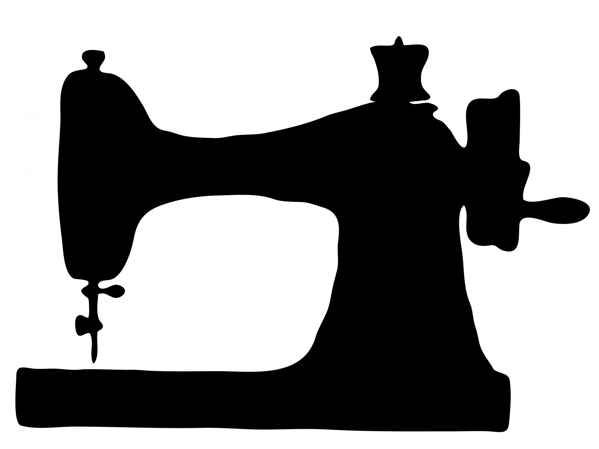 Vintage Sewing Machine Clipart Free Stock Photo.
