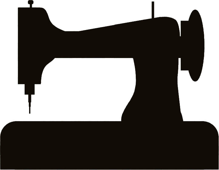 92 Tailor With Sewing Machine Clipart Retro Sewing Machine Vector