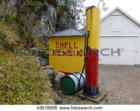 Pictures of Old Shell filling station k9518508.