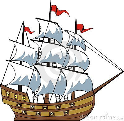 Old Ship Clipart.