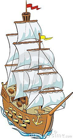 Old Ship Clip Art.