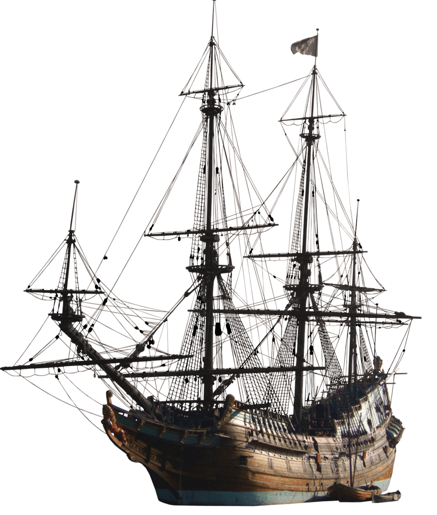 Ancient Sailing Ship transparent PNG.