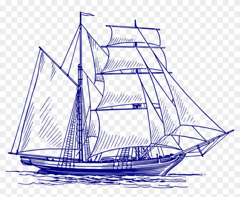 Sailing Ship, Ship, Sailing Vessel, Sea, Boat, Ocean.