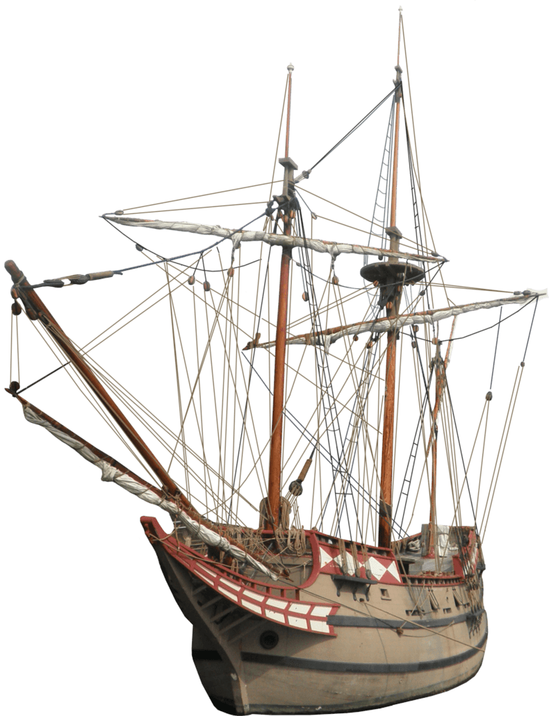 Old Sailing Ship transparent PNG.