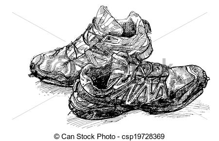 Pair Of Old Running Shoe.