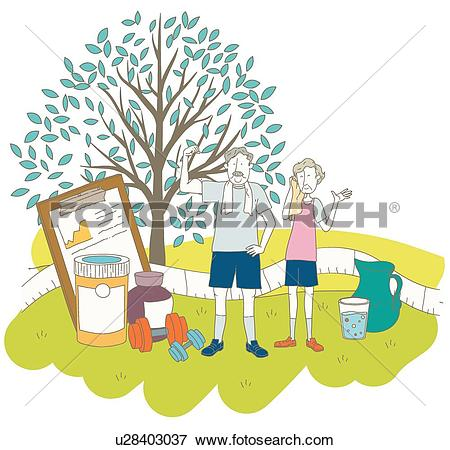 Stock Illustration of Silver, Health Care, Elderly, old age.