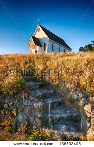 Old Country Church Stock Photos, Royalty.