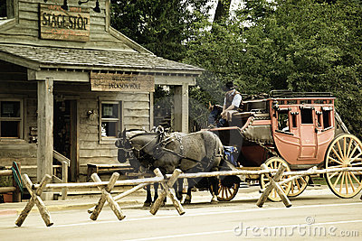 Old Western Stagecoach Stock Photos, Images, & Pictures.