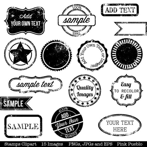 Stamps Clipart Clip Art, Vintage Postage Badge Label Frame.