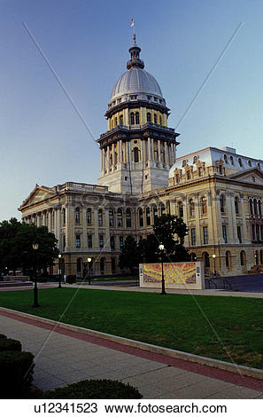 Stock Photo of Springfield, State Capitol, Statehouse, capitol, IL.