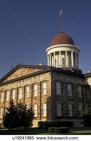 Stock Image of Springfield, IL, Illinois, The Old State Capitol.