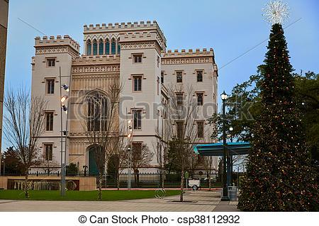 Stock Photos of Louisiana Old State Capitol Baton Rouge US.