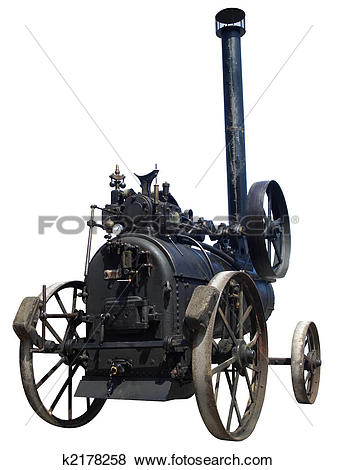 Pictures of Old steam tractor isolated k2178258.