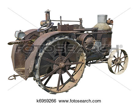Stock Images of old rusty steam tractor k6959266.
