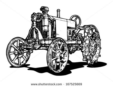 Old steam tractor clipart #20