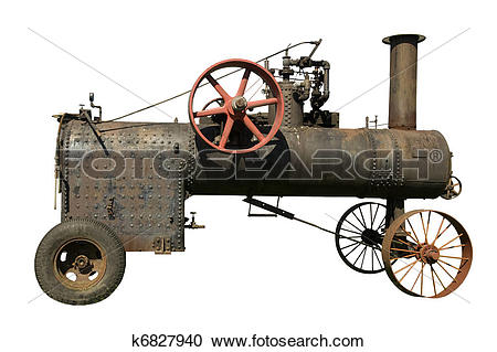 Stock Photography of part of old steam tractor k6827940.