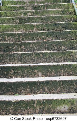Picture of Vertical concrete steps.